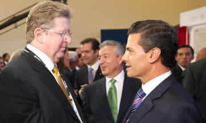 Este jueves se publicó una imagen que se atribuye al empresario, quien coincidió en un acto con el presidente Peña Nieto. (Foto: Presidencia de la República)