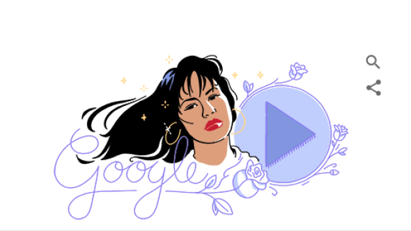 Google rinde homenaje a Selena con un Doodle