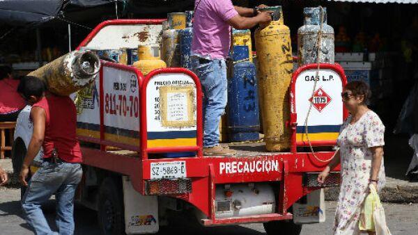 cami�n de cilindros de gas LP