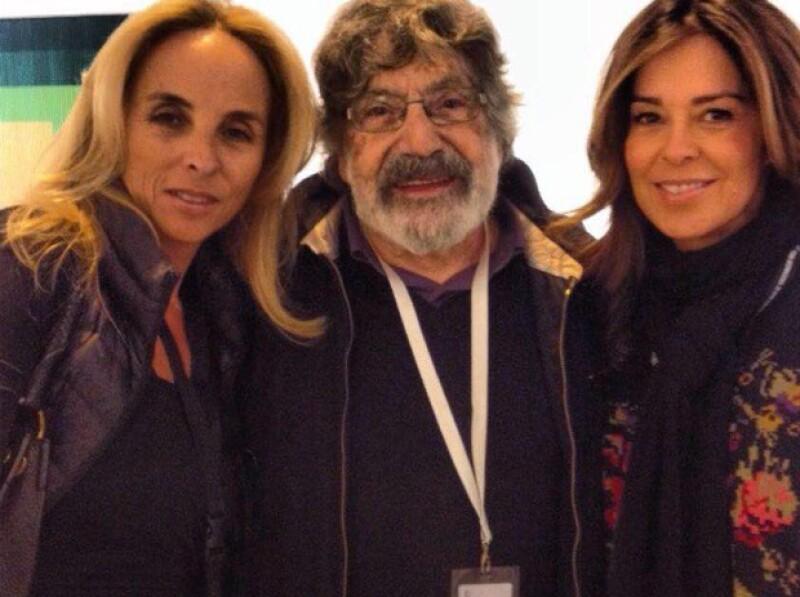Jaqueline Asúnsolo, el maestro Cruz Diez y Karen Serdio.