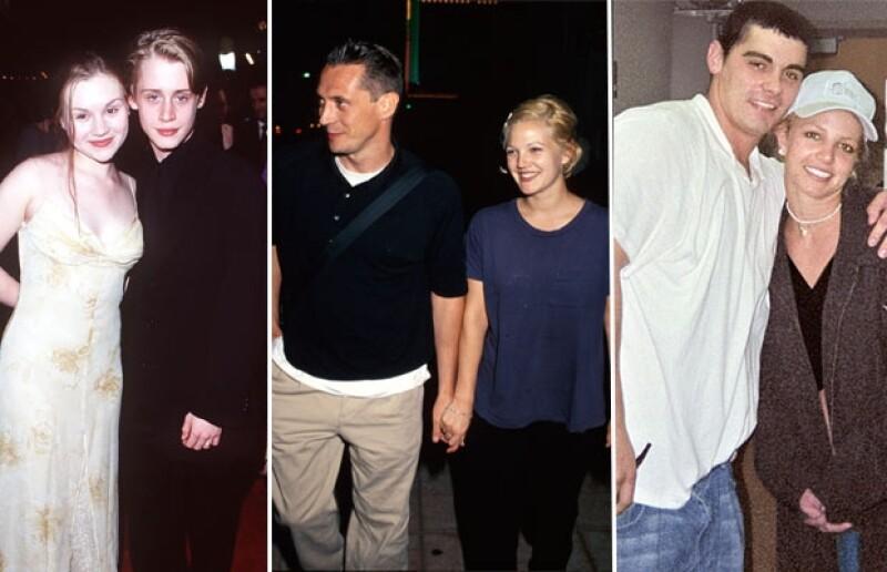 Macaulay Culkin se casó a los 17 con Rachel Miner; Drew Barrymore a los 19 y Britney Spears a los 22.