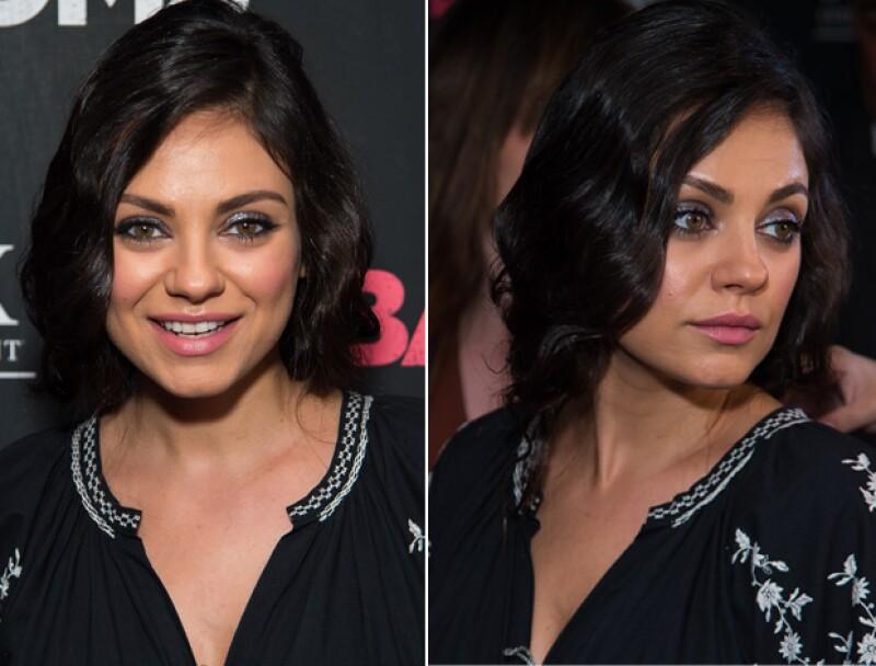 La actriz dio la impresión de que se había cortado el pelo, pero en realidad solo era un recogido con ondas.