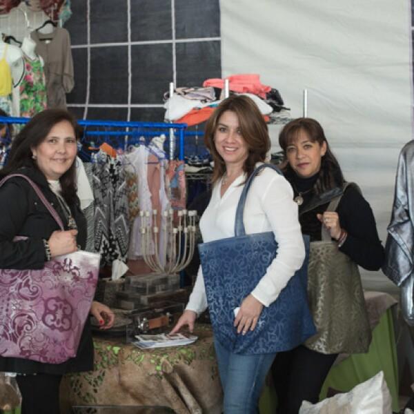 Cristina Sánchez Armass, Sandra García y Rosi Ange