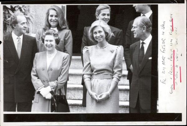 La familia real de España y los Windsor