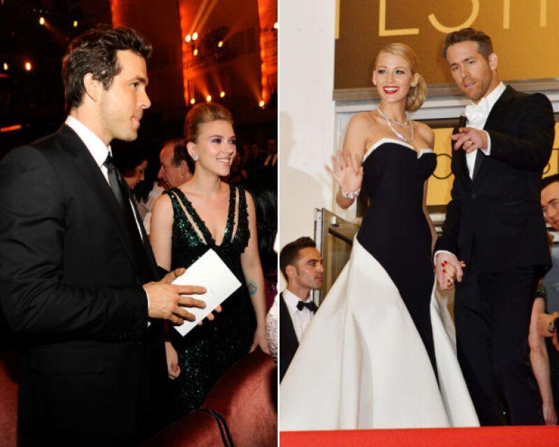 Ryan Reynolds y sus dos amores, lamentablemente para Scarlett, Blake fue la ganadora.