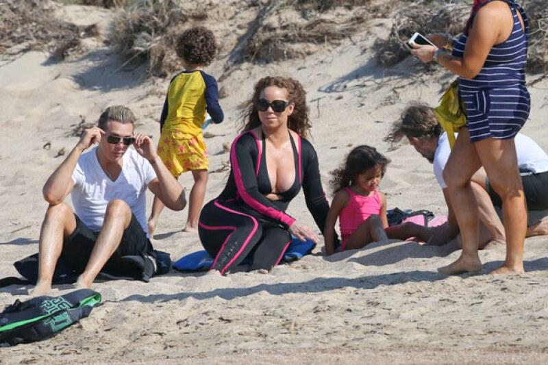 Aprovechó para disfrutar un tiempo con sus hijos, y además del clima cálido de las costas italianas.