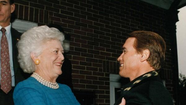 Bush y Schwarzenegger
