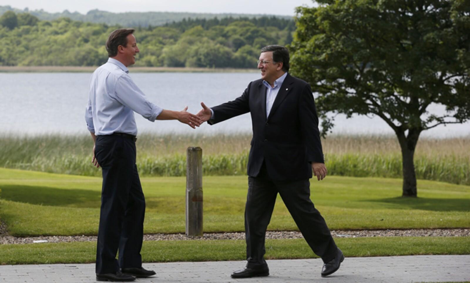 El presidente de la Comisión Europea, José Manuel Barroso, a su llegada a Irlanda del Norte, donde se prevé que también se toquen temas 'espinosos' como la fuga de capitales y la evasión fiscal.