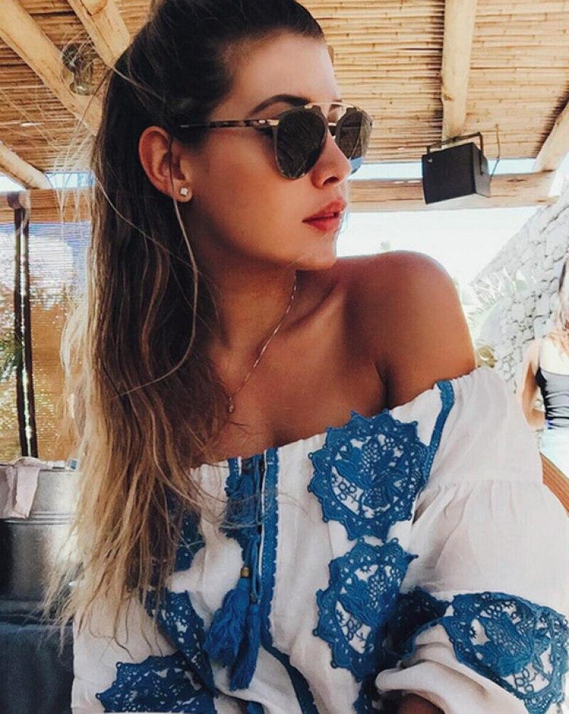 La hija de Luis Miguel se encuentra en Mykonos pasando parte de su verano; sin duda se puede ver, por las imágenes que ha publicado, lo increíble de sus vacaciones.