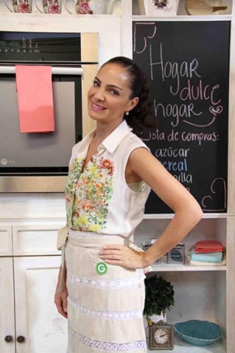 """La experta en la cocina platicó sobre su nuevo programa llamado """"Hogar dulce hogar"""", el cual calificó como un reality show pues en esta ocasión todo está grabado en su casa."""