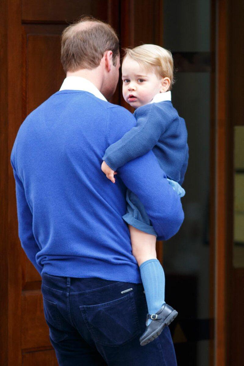 A sus dos años de edad, el príncipe George ya tiene una hermanita.
