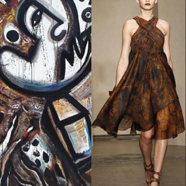 Las formas y colores chocolate del pintor Philippe Dodard remiten junto con Donna Karan a la isla de Haití.