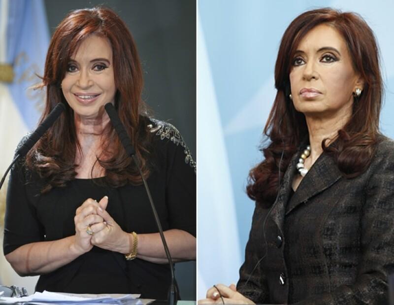 El color negro es el mejor aliado de Cristina.