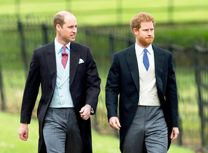 Los príncipe William y Harry de Inglaterra.