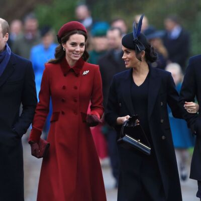 William, Kate, Meghan y Harry