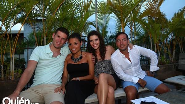 Sergio Fonseca,Mónica Vargas,Elena Rodríguez y Edgar Fonseca