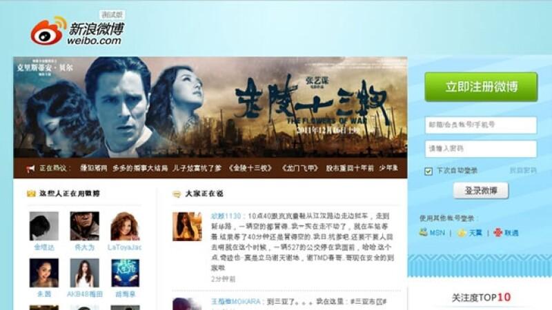Weibo es el servicio de Microblog más grande en China