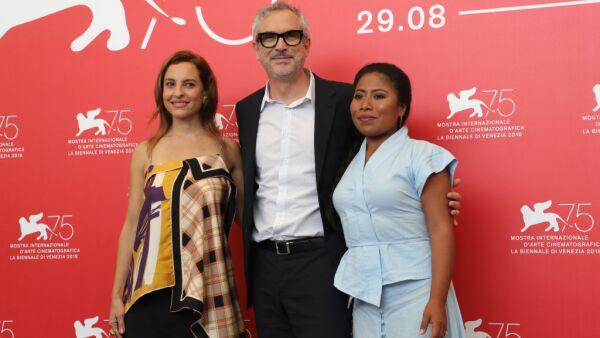 Marina de Tavira, Alfonso Cuarón y Yalitza Aparicio