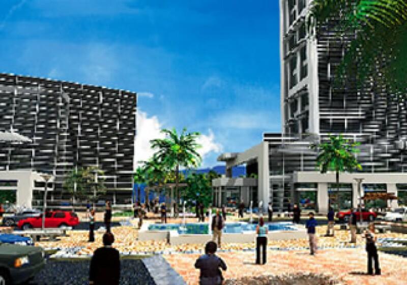 El diseño del área comercial buscará una certificación LEED Plata, por lo que tendrá sistemas de ahorro de energía y agua, al igual que de pasivos de clima. (Foto: Cortesía Guanajuato Puerto Interior)