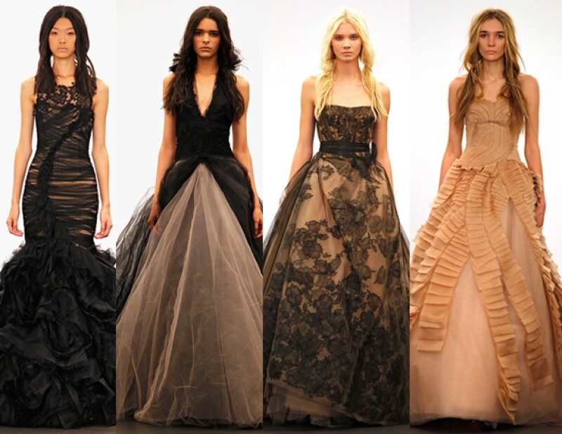 La afamada diseñadora de vestidos de novia soprendió con su colección otoño 2012 por su carácter gótico y totalmente antagónico a los tradicionalismos nupciales.