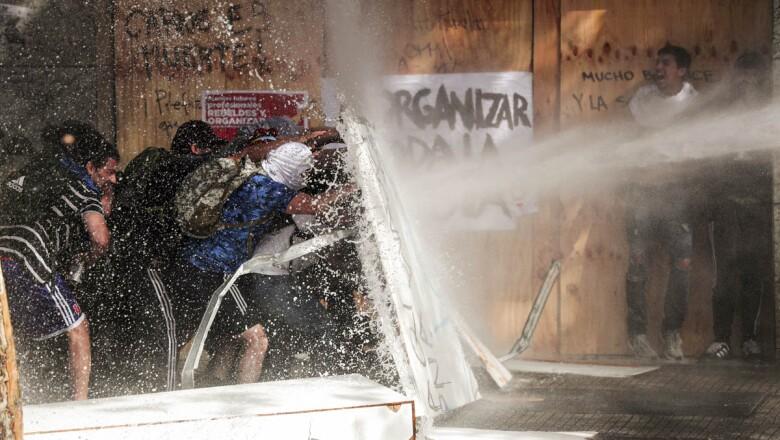 Protest against Chile's state economic model in Santiago