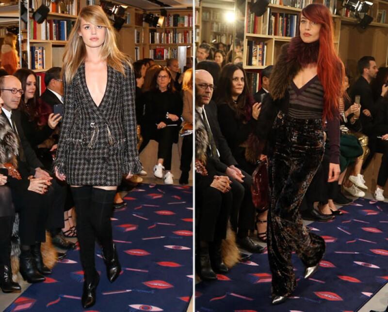 May y Lizzy Jagger, las hijas del vocalista de `The Rolling Stones´ también fueron modelos en el discreto desfile.