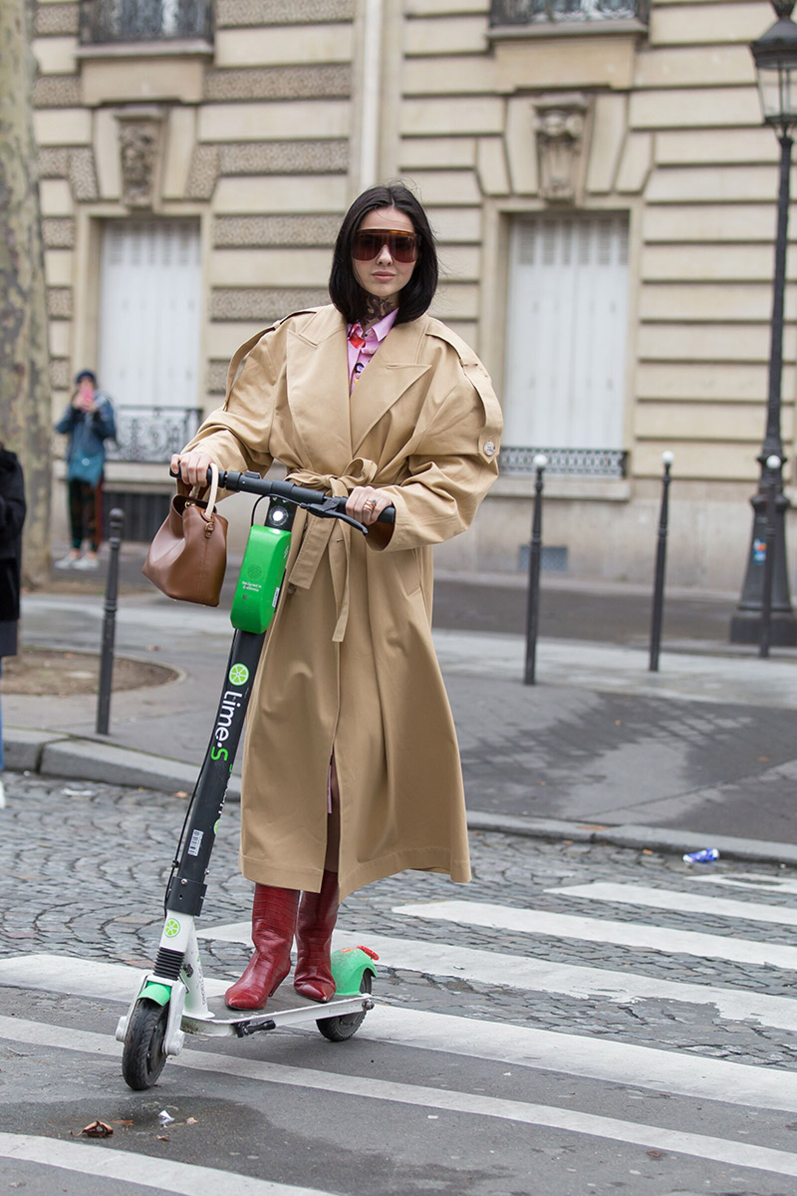 Street Style, Fall Winter 2019, Paris Fashion Week, France - 02 Mar 2019