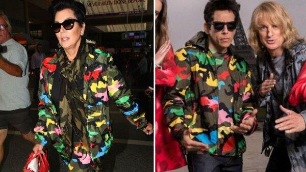 La mamá de las Kardashian se está volviendo fan de vestir con un look más varonil, pues ahora copió el look del icónico personaje que interpreta Ben Stiller.