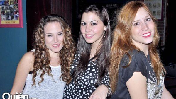 Raquel Huerta, Karla Cortés y Dam¡niela Rodríguez
