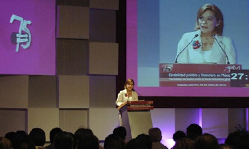 Desde Acapulco, Josefina Vázquez Mota se comprometió a mantener la estabilidad del sistema financiero. (Foto: Notimex)