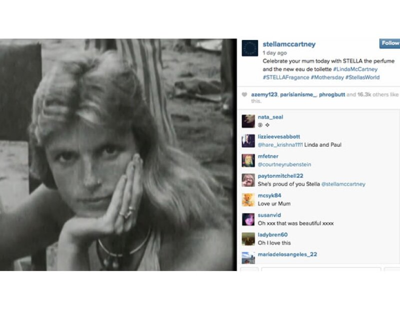 Una foto vintage de Linda McCartney.
