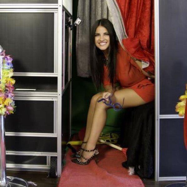 La actriz quien también cantará hoy en la noche en la cabina de fotos.