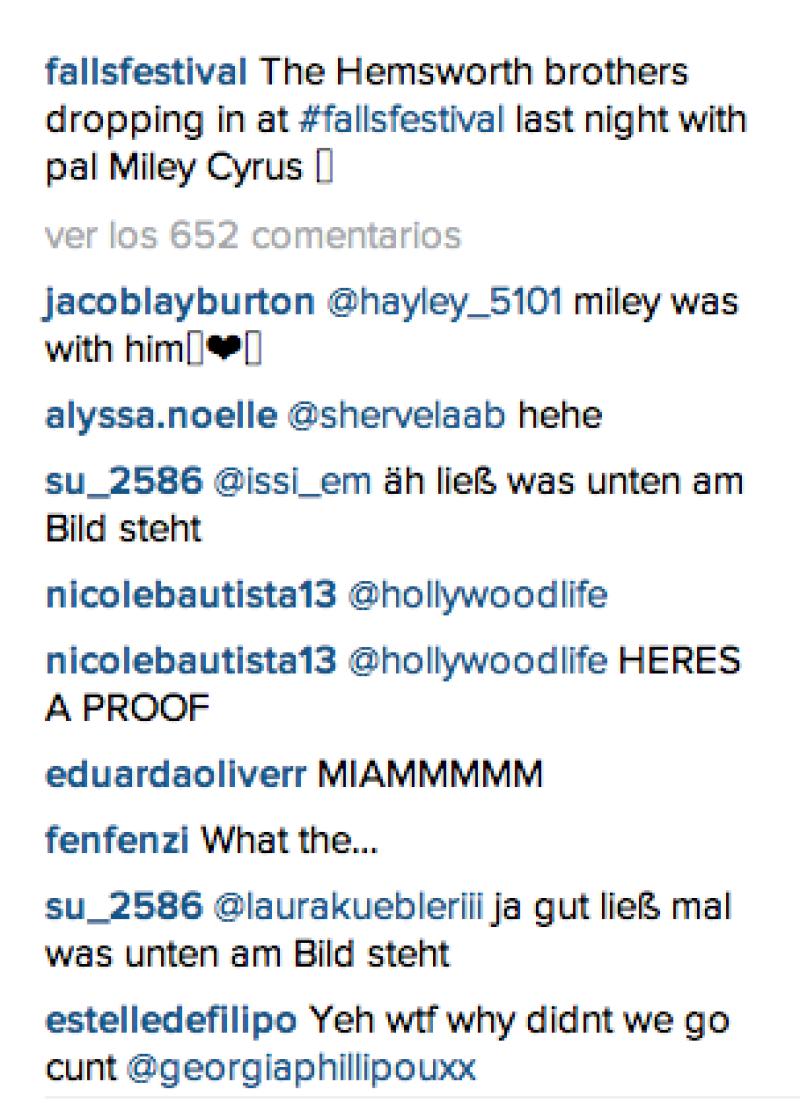La cuenta del festival en Instagram, delató la presencia de la cantante.