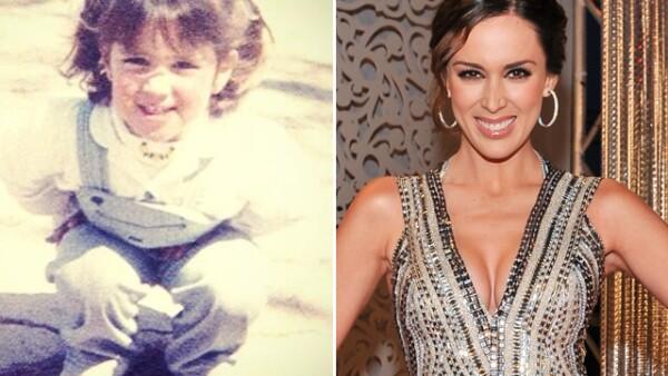 La recién estrenada como mamá Jacky Bracamontes posteó una foto de cuando era niña. ¿Así se verá Mini Jacky en un futuro?