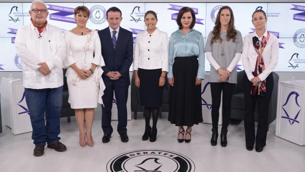 Los siete candidatos en el último debate