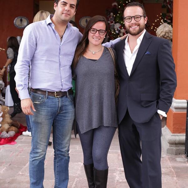 Eduardo Guerra,Andrea Ampudia y Juan Carlos Aguirre