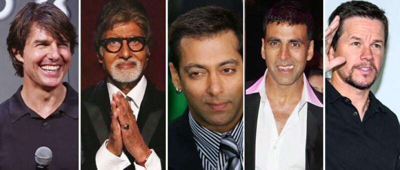 Tom Cruise, Amitabh Bachchan, Salman Khan, Akshay Kumar, Mark Wahlberg.
