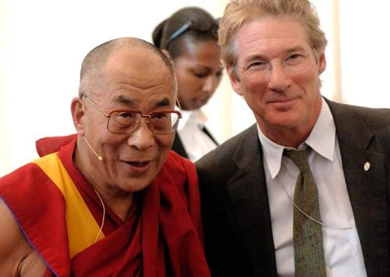 Richard Gere y el Dalai Lama se han encontrado en distintas ocasiones por el gran aporte que hace el actor con el Tíbet.