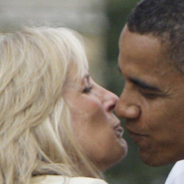 Con Jill, la esposa del vice presidente Joe Biden.