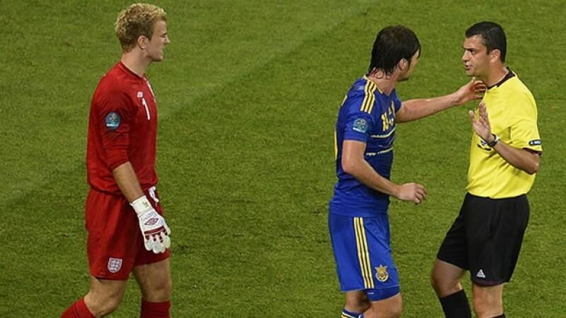 Ucrania e Inglaterra polemizan por un gol