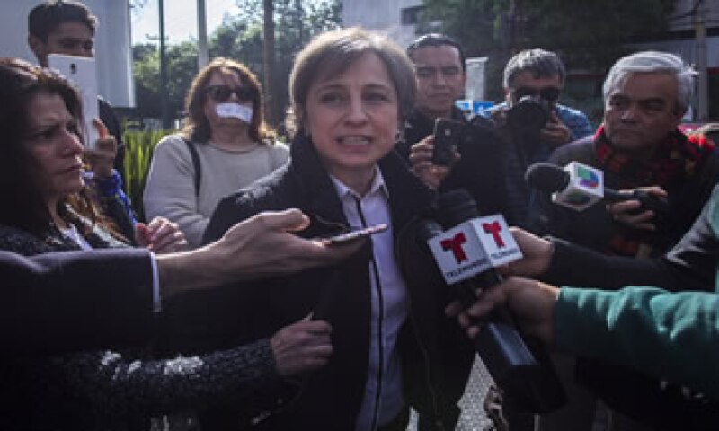 La periodista busca la reinstalación de su programa en MVS. (Foto: Cuartoscuro )