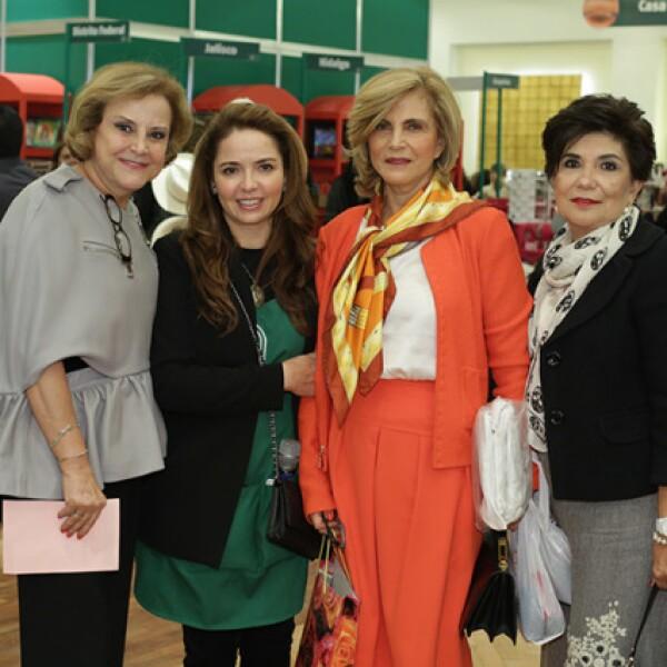 Stella Chedraui,Rosita Aguirre,Ana María Chedraui y Sofía Librero