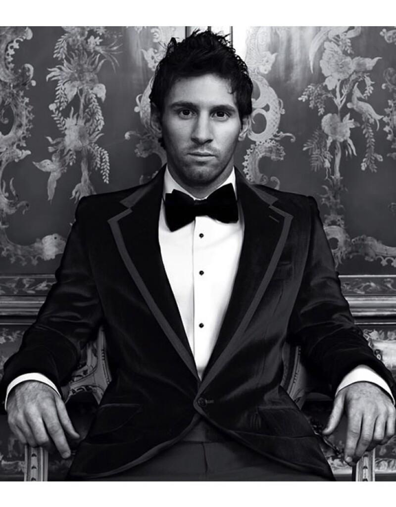Lionel Messi fue fotografiado por Domenico Dolce para el libro Dolce & Gabbana.