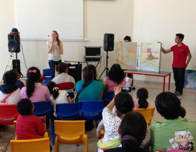 Ceci hizo felices a muchos niños al dedicarles su tiempo, cariño y alegría.
