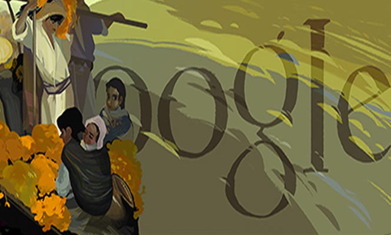 El 9 de julio de 2013 las búsquedas de Google enmarcaron al pintor mexicano.