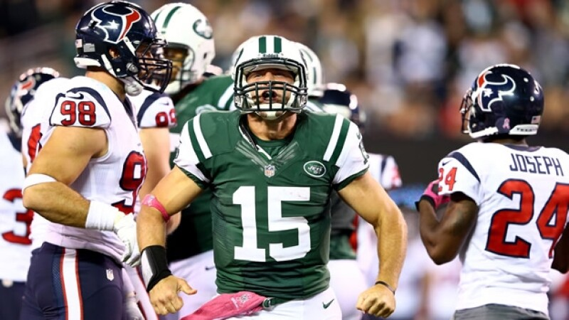 Tim Tebow jets nueva york vs texanos houston NFL fecha 5 lunes