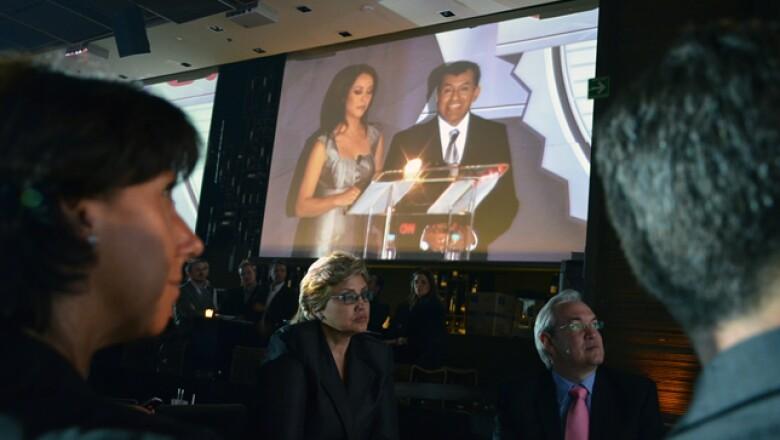 Manuel Rivera, director general de Grupo Expansión, dio comienzo a la entrega de los premios y felicitó a todos los participantes.