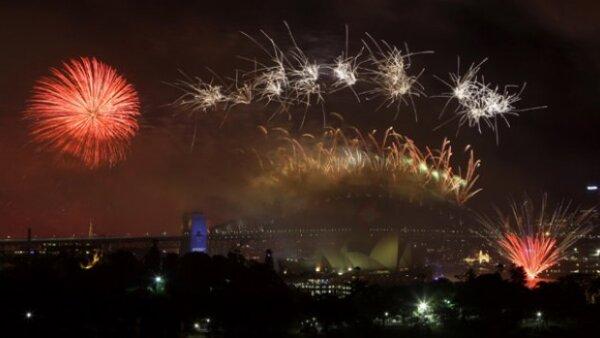 Como ya es costumbre, Australia recibirá el Año Nuevo con su famoso espectáculo pirotécnico.