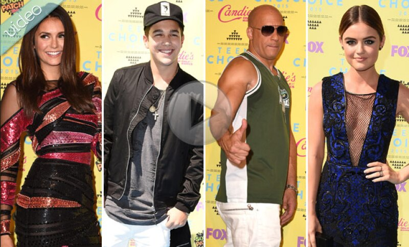 Estrellas como Nina Dobrev, Ellen Degeneres, Vin Diesel, Gina Rodriguez, Austin Mahone y las Pretty Little Liars desfilaron por la alfombra llena de color y tablas de surf.