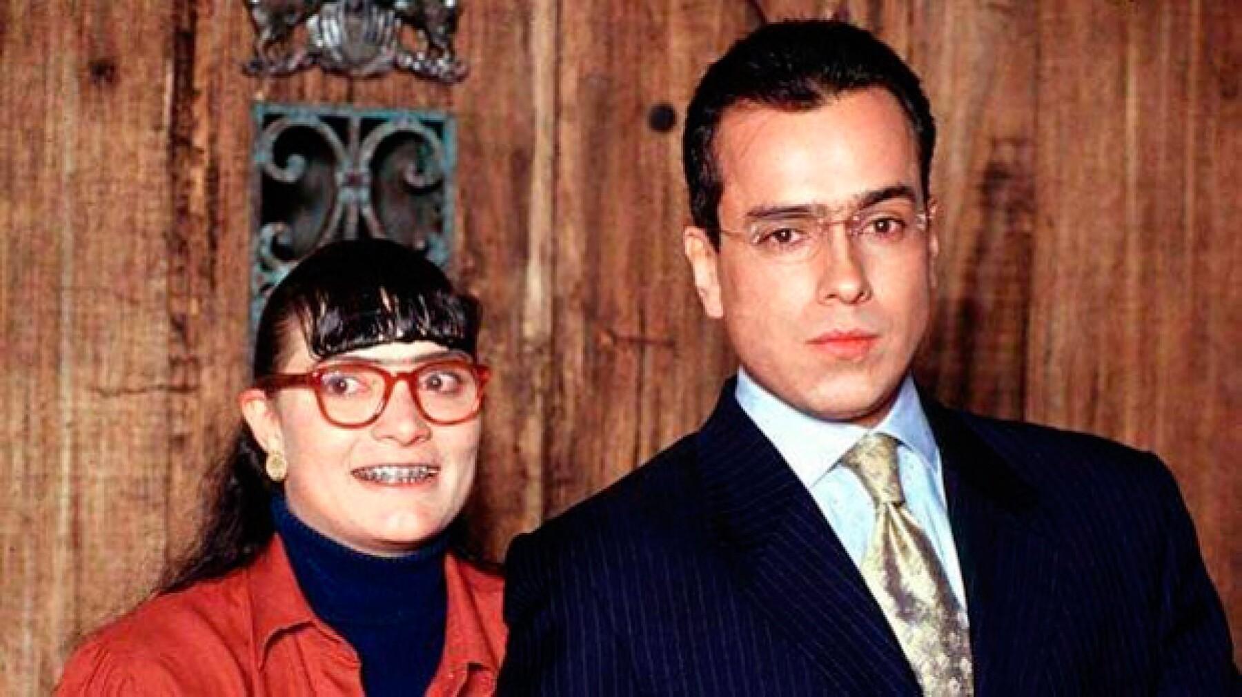 """Ana María Orozco y Jorge Enrique Abello, protagonistas de """"Yo soy Betty, la fea""""."""